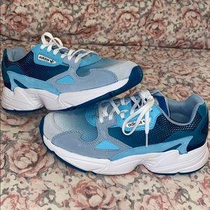 Blue Adidas Falcon Sneakers